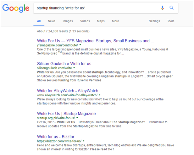 guest posting opportunities through Google search - Content marketing tips